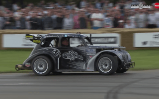 Goodwood stunt driver puts on incredible show for fans