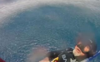 British diver rescued after 18 hours in shark-infested ocean