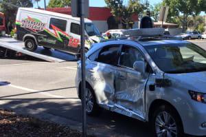 Un vehículo autónomo de Google es víctima de un nuevo accidente