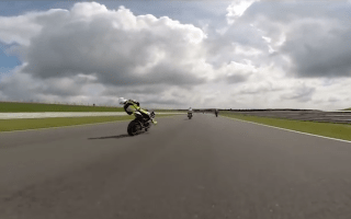 Rider knocked out at 140mph inhorrific track day crash