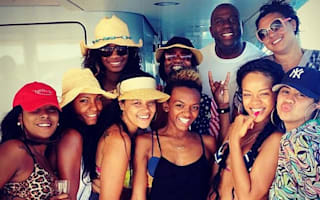 Rihanna parties with friends on Mediterranean cruise
