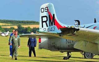 Video: Pilot has miracle escape after mid-air collision at display show
