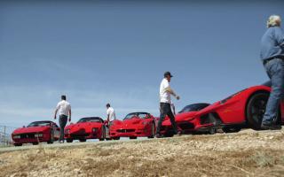 Jay Leno brings Ferrari's Fab Five to the racetrack