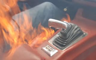 Father and son film moment Chevrolet catches fire