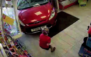 Drunk pensioner crashes through shop front and hits young boy