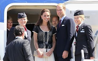 Kate and William head home from royal tour with fellow Brits on BA