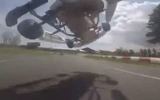 Go-kart driver makes amazing overtake during Canadian race