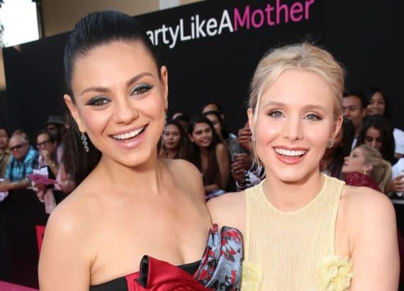 Kirstin Bell and Mila Kunis stun at 'Bad Moms'