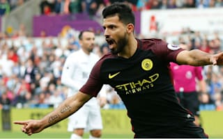 Swansea City 1 Manchester City 3: Aguero at the double for Guardiola's perfect 10
