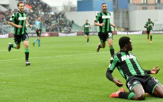 Sassuolo 2 AC Milan 0: Rossoneri's unbeaten Serie A run snapped