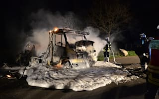 'Sex wagon' goes up in flames