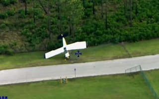 Watch: Plane crash-lands on driving training course