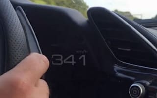 Video: Ferrari owner blasts to 212mph on the autobahn