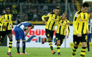 Borussia Dortmund 1 Hertha Berlin 1: Aubameyang leveller creates new record