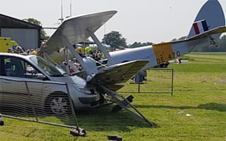 Woman seriously injured after plane crashes into cars at Berkshire event
