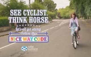 Cyclist in safety ad wore no helmet
