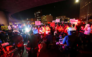 America rocked by nationwide protests as Donald Trump celebrates election victory