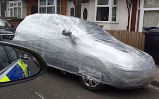 Keeping things under wraps? Students prank Birmingham car