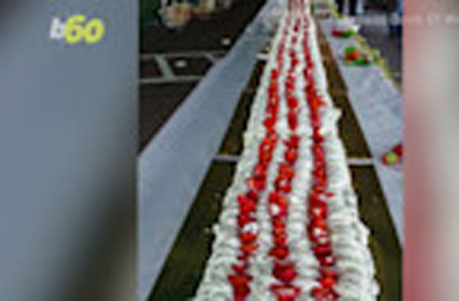 French Strawberry Cake Breaks World Record