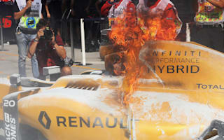 Renault explain Magnussen fire