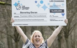 'Skint' man says he doesn't resent ex's £14.5 million lottery win