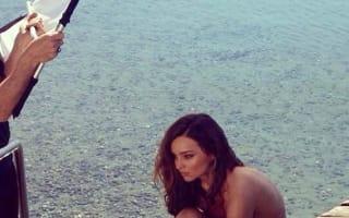 Miranda Kerr strips off for lakeside photo shoot in Switzerland