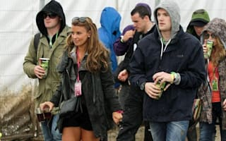 That's Glamping! Rooneys hit Glasto - in matching wellies and a helicopter
