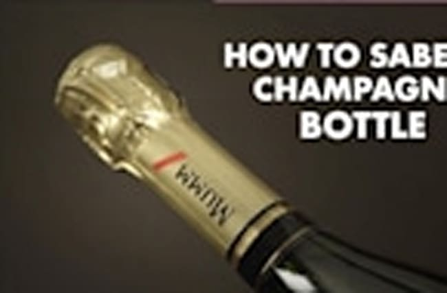 How to Saber a Champagne Bottle