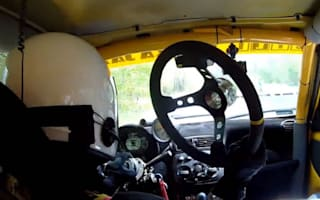 Video: Steering wheel falls off mid rally, driver keeps going