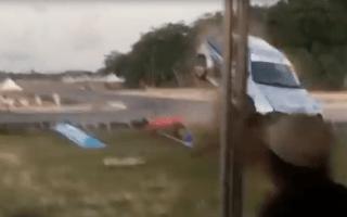 Shocking racecar crash in Trinidad &amp&#x3B; Tobago caught on camera