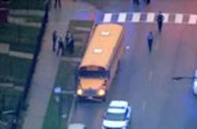 Bus driver shot in face
