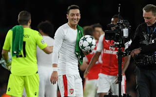 Mertesacker hails 'hungry' hat-trick hero Ozil