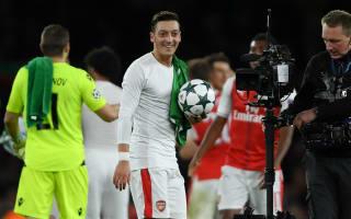 Mertesacker hails 'hungry' hat-trick hero Ozil