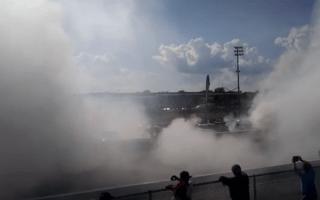 114-car burnout sets new world record