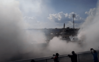 114-car burnout sets new world record