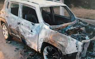 Tourists' hire car bursts into flames 20 minutes after Heathrow pick-up