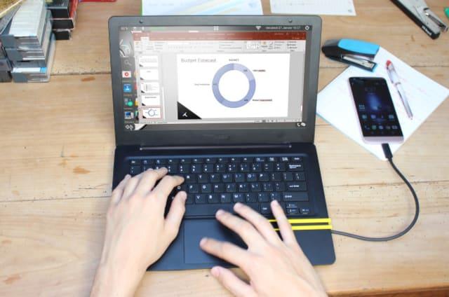 Sigue siendo una genial idea: Mirabook transforma tu móvil en portátil