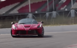 Watch Sebastien Vettel go for a quick blast in the LaFerrari Aperta