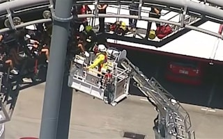 Terrified riders rescued from Australian rollercoaster