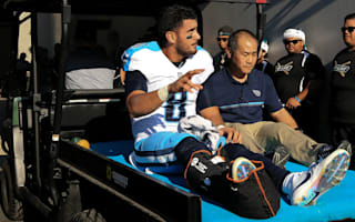 Mariota suffers broken leg in Titans loss