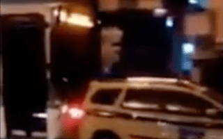 Road rage in Rio as bus rams car along street