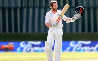 Williamson scores century as first Test in balance