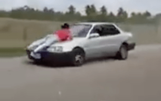 Man ties 'cheating' wife to car bonnet and drives off