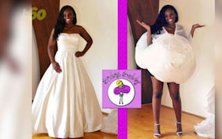 Finally, brides can use the restroom without help
