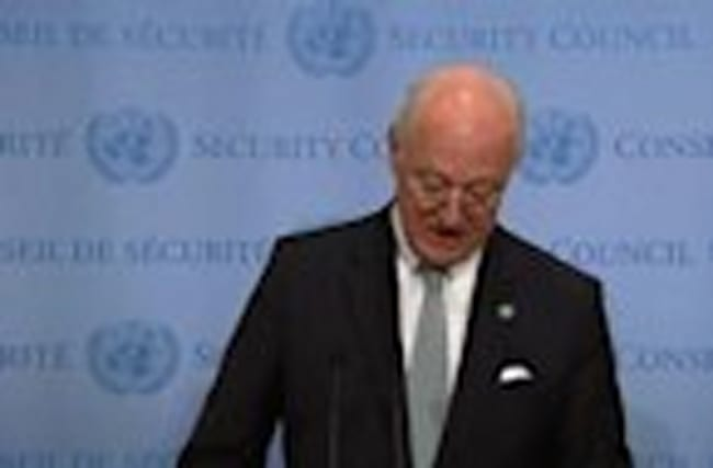 "Bombing of Aleppo ""inhumane"" and ""barbaric"" - de Mistura"