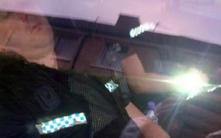 Policemen caught having a snooze