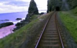 Trespassers narrowly miss death in train tunnel: Video