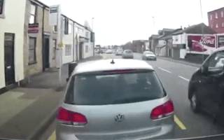 Driver filmed attempting alleged 'crash for cash' scam