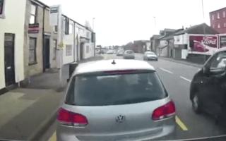 Driver filmed attempting alleged 'crash for cash' scam