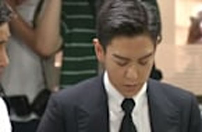 Big Bang's T.O.P arrives for marijuana trial